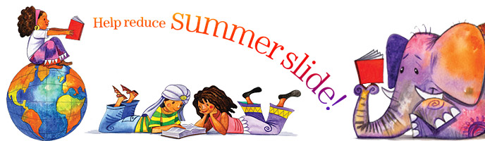 Image result for prevent summer slide clipart